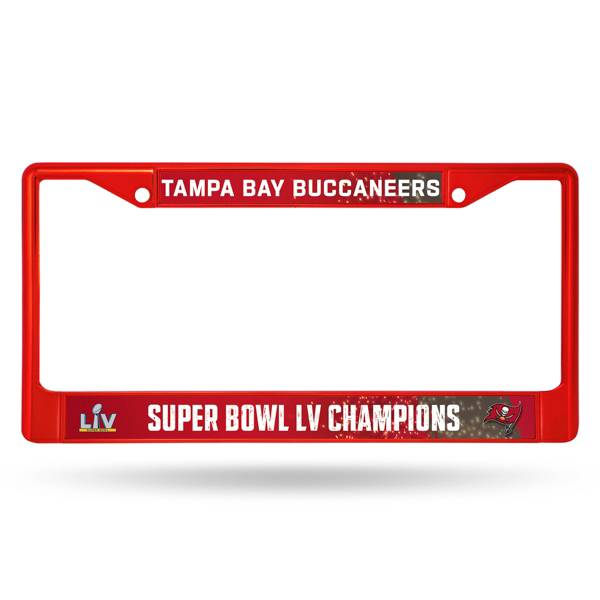 Rico Super Bowl LV Champions Road to Super Bowl Tampa Bay Buccaneers Chrome License Plate product image