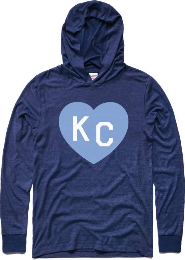 Charlie Hustle KC Heart Vintage Blue Pullover Hoodie Shirt product image