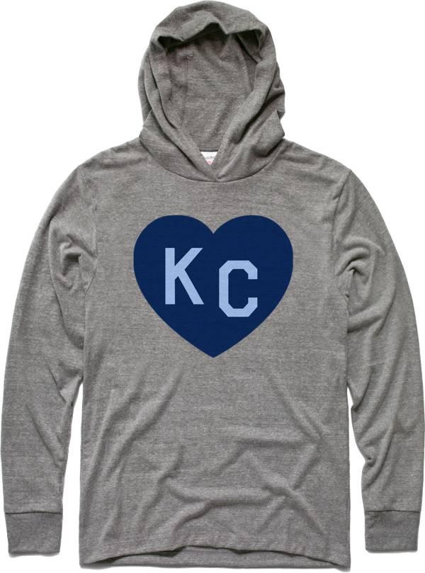 Charlie Hustle KC Heart Vintage Heather Grey Pullover Hoodie Shirt product image