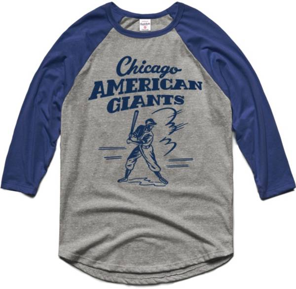 Charlie Hustle Chicago American Giants Grey Museum Raglan ¾ Sleeve T-Shirt product image