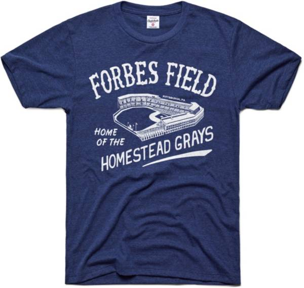 Charlie Hustle Homestead Grays Navy Forbes Field Museum T-Shirt product image