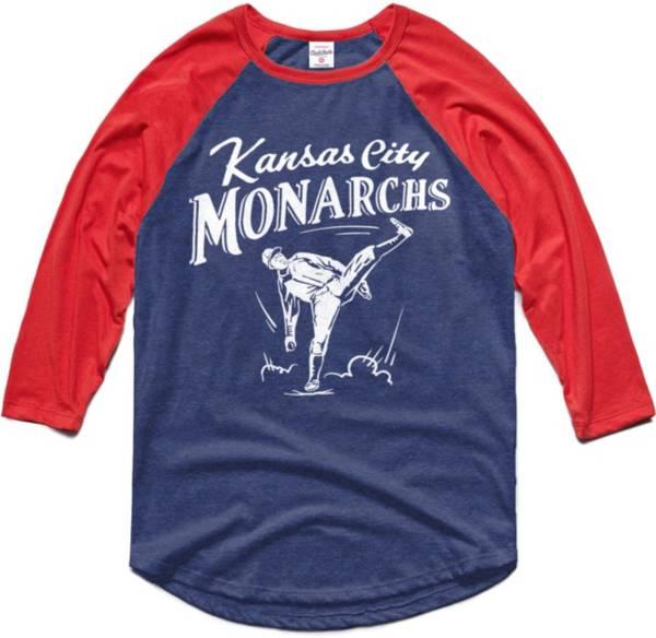 Charlie Hustle Kansas City Monarchs Navy Museum Raglan ¾ Sleeve T-Shirt product image