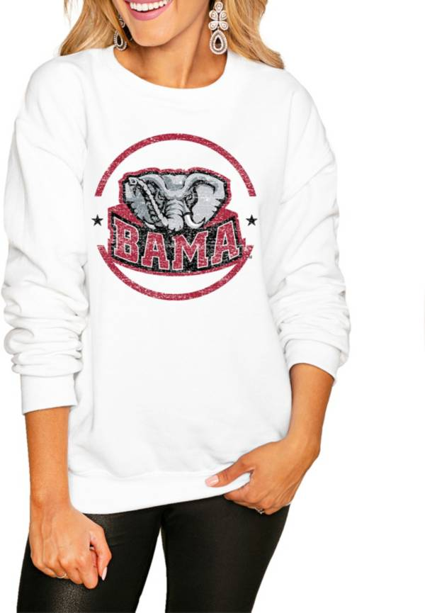 Gameday Couture Women's Alabama Crimson Tide White Perfect Cozy Crew Pullover Sweatshirt product image