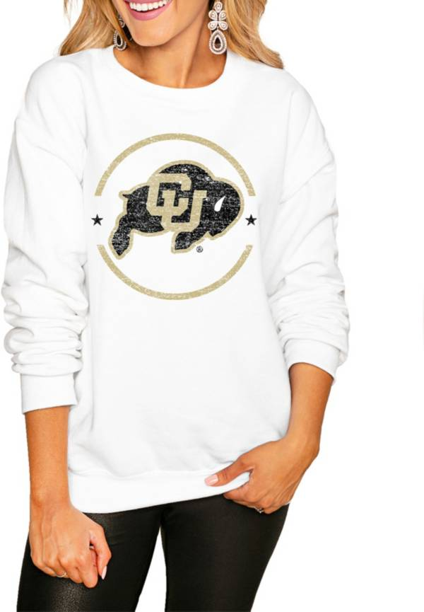 Gameday Couture Women's Colorado Buffaloes White Perfect Cozy Crew Pullover Sweatshirt product image