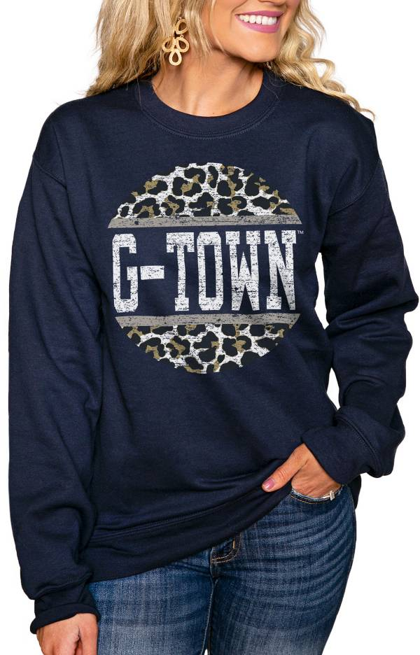 Gameday Couture Women's Georgetown Hoyas Blue Perfect Cozy Crew Pullover Sweatshirt product image