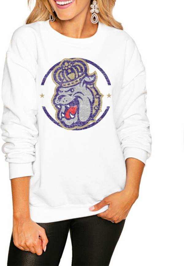 Gameday Couture Women's James Madison Dukes White Perfect Cozy Crew Pullover Sweatshirt product image