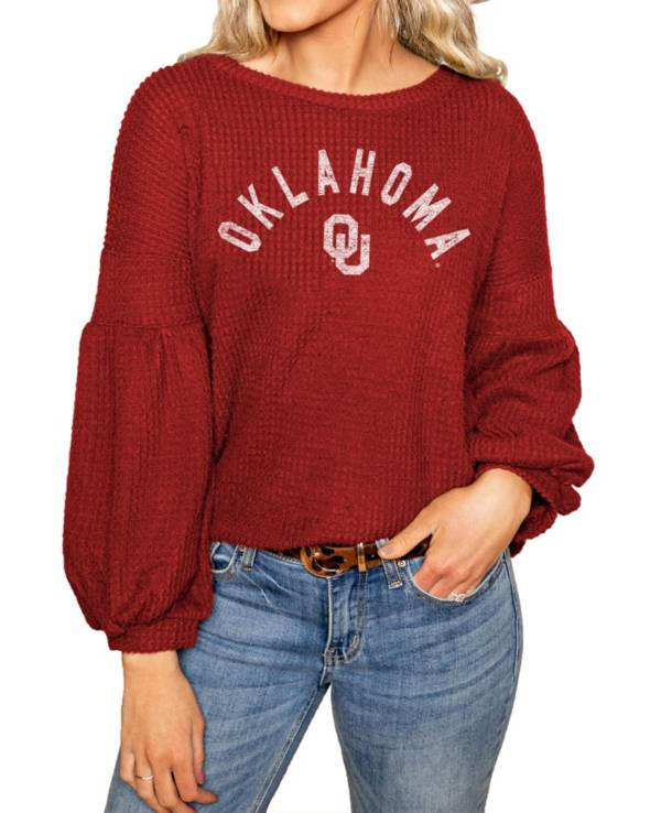 Gameday Couture Oklahoma Sooners Crimson Bubble Long Sleeve Shirt product image
