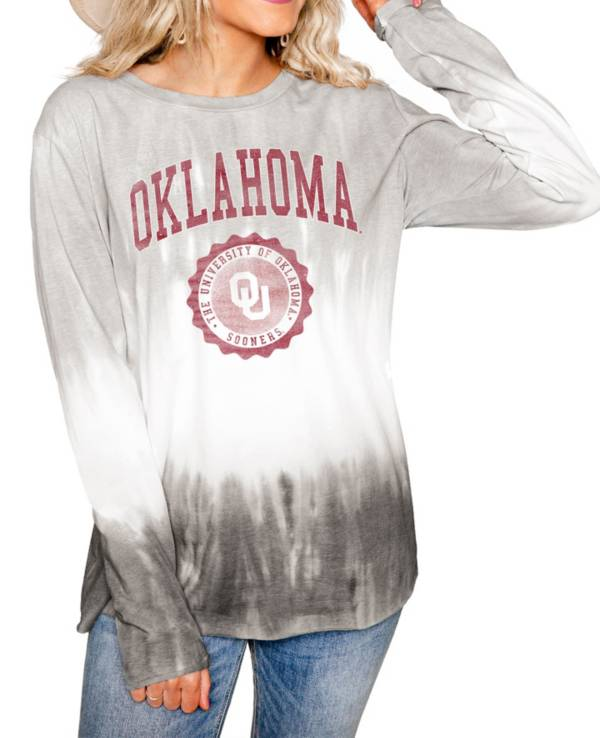 Gameday Couture Oklahoma Sooners White Dip Dye Long Sleeve T-Shirt product image