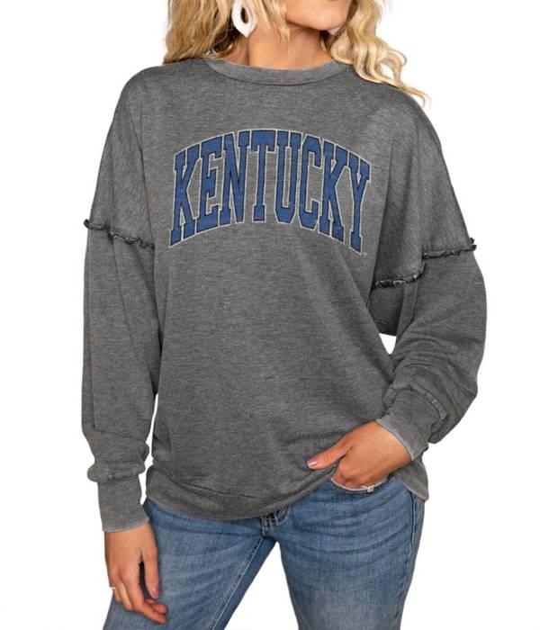 Gameday Couture Kentucky Wildcats Grey Acid Wash Crew Pullover Sweatshirt product image