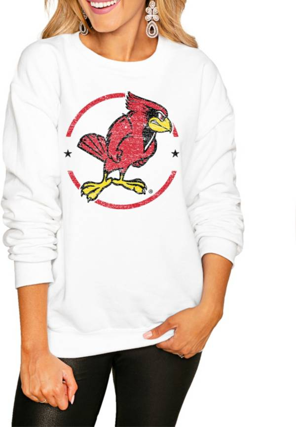 Gameday Couture Women's Illinois State Redbirds White Perfect Cozy Crew Pullover Sweatshirt product image