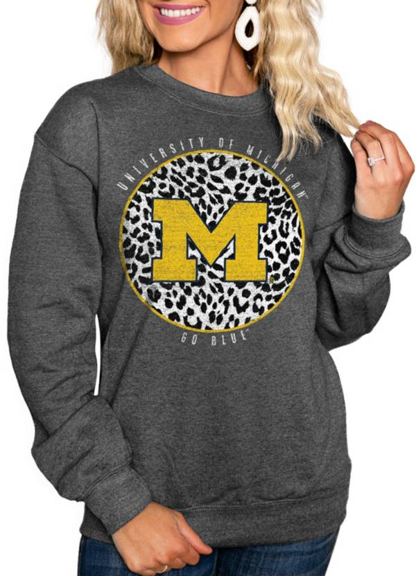 Gameday Couture Women's Michigan Wolverines Grey Cozy Crewneck Hoodie product image