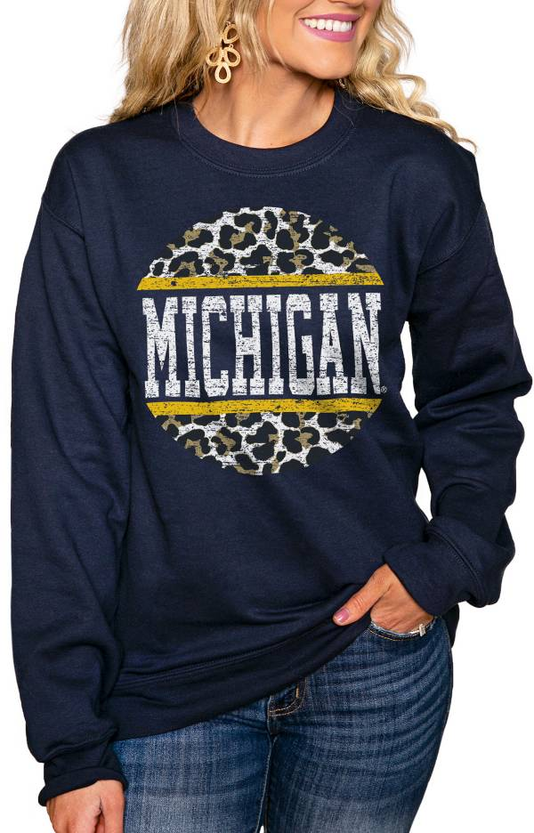Gameday Couture Women's Michigan Wolverines Blue Perfect Cozy Crew Pullover Sweatshirt product image