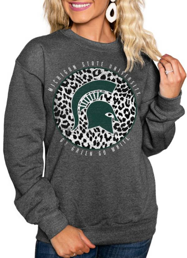 Gameday Couture Women's Michigan State Spartans Grey Cozy Crewneck Hoodie product image