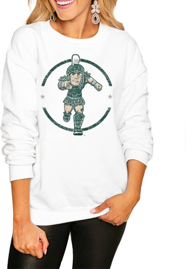 Gameday Couture Women's Michigan State Spartans White Perfect Cozy Crew Pullover Sweatshirt product image