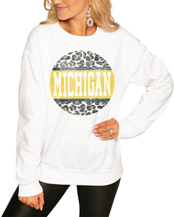 Gameday Couture Women's Michigan Wolverines White Perfect Cozy Crew Pullover Sweatshirt product image