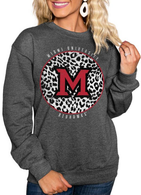 Gameday Couture Women's Miami RedHawks Grey Cozy Crewneck Hoodie product image