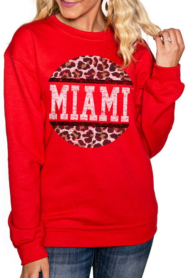 Gameday Couture Women's Miami RedHawks Red Perfect Cozy Crew Pullover Sweatshirt product image