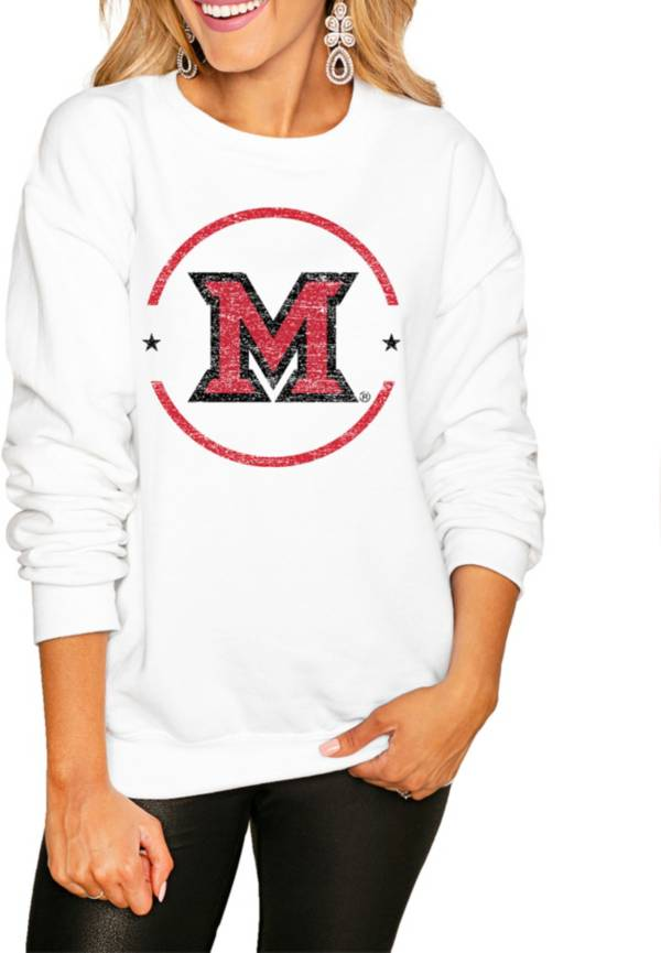 Gameday Couture Women's Miami RedHawks White Perfect Cozy Crew Pullover Sweatshirt product image