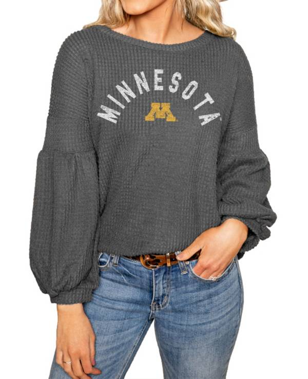 Gameday Couture Minnesota Golden Gophers Grey Bubble Long Sleeve Shirt product image