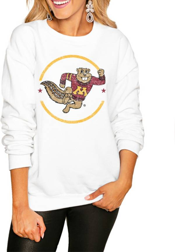 Gameday Couture Women's Minnesota Golden Gophers White Perfect Cozy Crew Pullover Sweatshirt product image