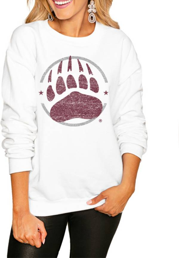 Gameday Couture Women's Montana Grizzlies White Perfect Cozy Crew Pullover Sweatshirt product image