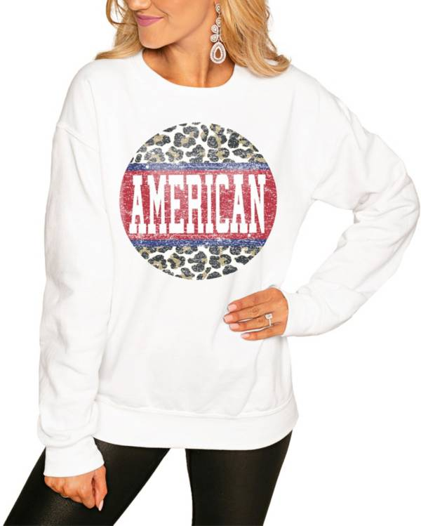 Gameday Couture Women's American University Eagles White Perfect Cozy Crew Pullover Sweatshirt product image