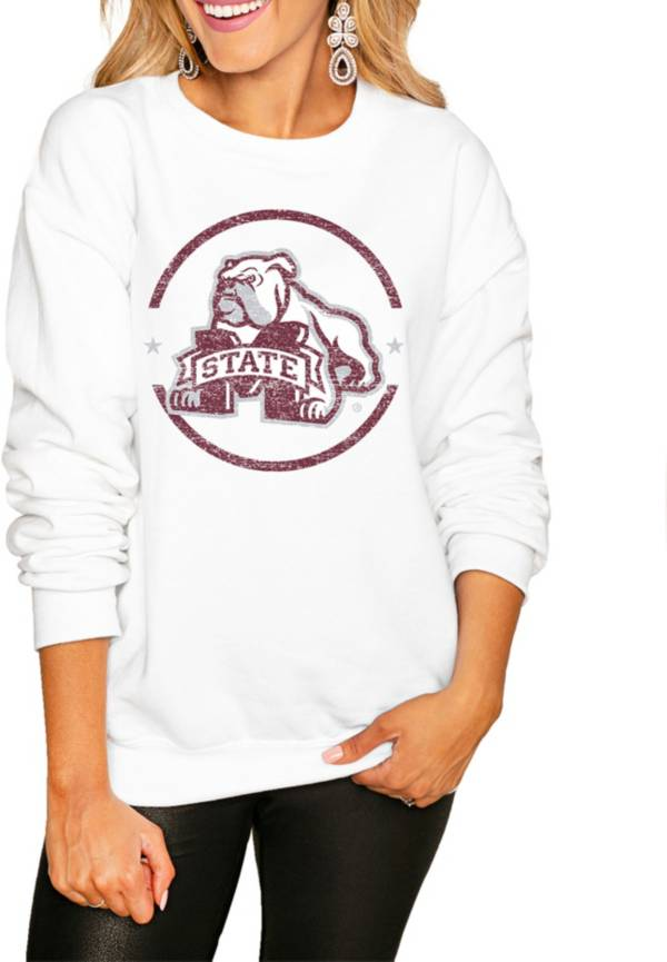 Gameday Couture Women's Mississippi State Bulldogs White Perfect Cozy Crew Pullover Sweatshirt product image