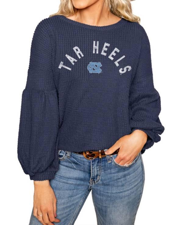 Gameday Couture North Carolina Tar Heels Navy Bubble Long Sleeve Shirt product image