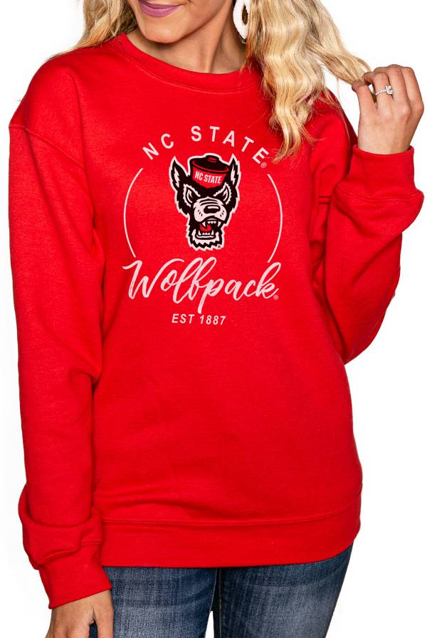 Gameday Couture Women's NC State Wolfpack Red 'For the Home Team' Perfect Cozy Crew Pullover Sweatshirt product image