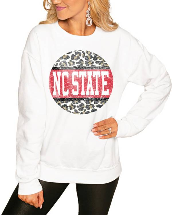 Gameday Couture Women's NC State Wolfpack White Perfect Cozy Crew Pullover Sweatshirt product image