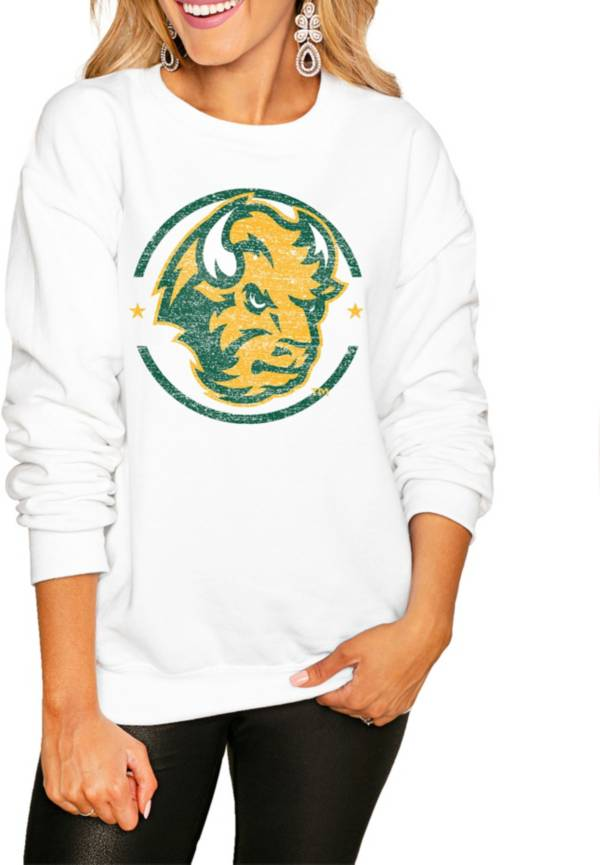 Gameday Couture Women's North Dakota State Bison White Perfect Cozy Crew Pullover Sweatshirt product image