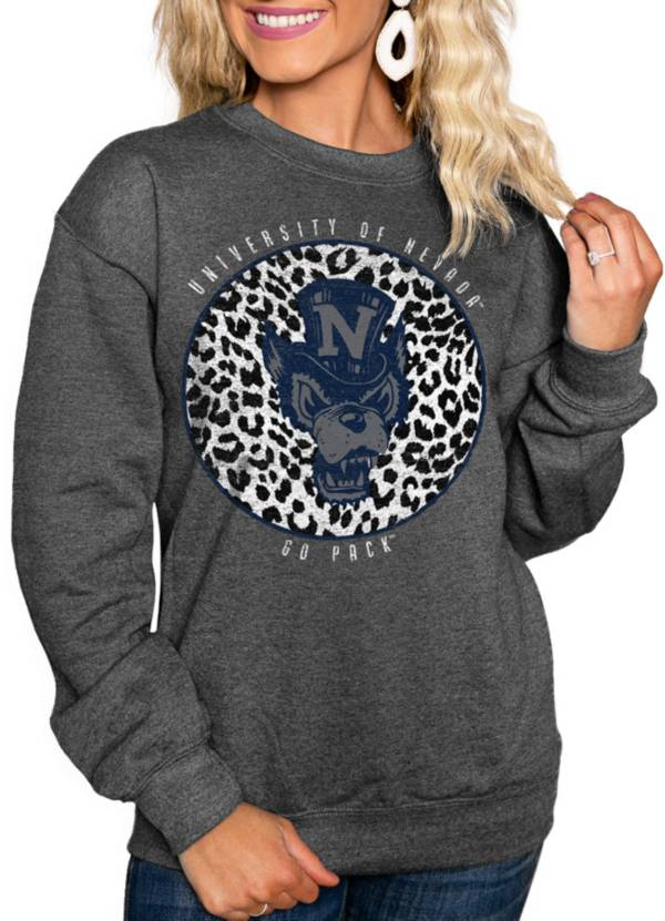 Gameday Couture Women's Nevada Wolf Pack Grey Cozy Crewneck Hoodie product image