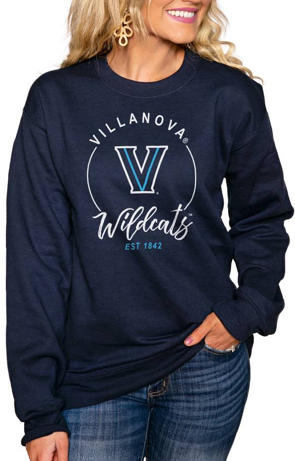 Gameday Couture Women's Villanova Wildcats Navy 'For the Home Team' Perfect Cozy Crew Pullover Sweatshirt product image