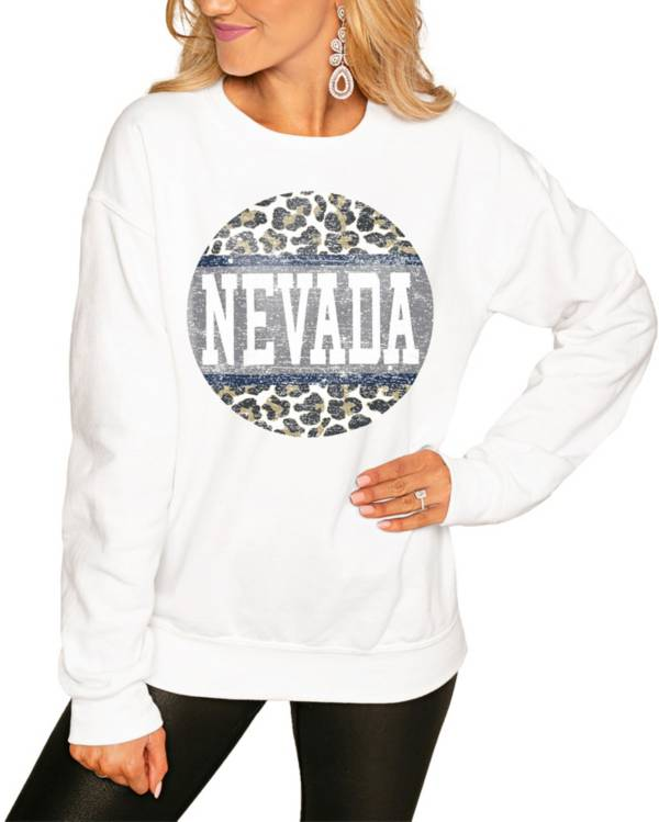 Gameday Couture Women's Nevada Wolf Pack White Perfect Cozy Crew Pullover Sweatshirt product image