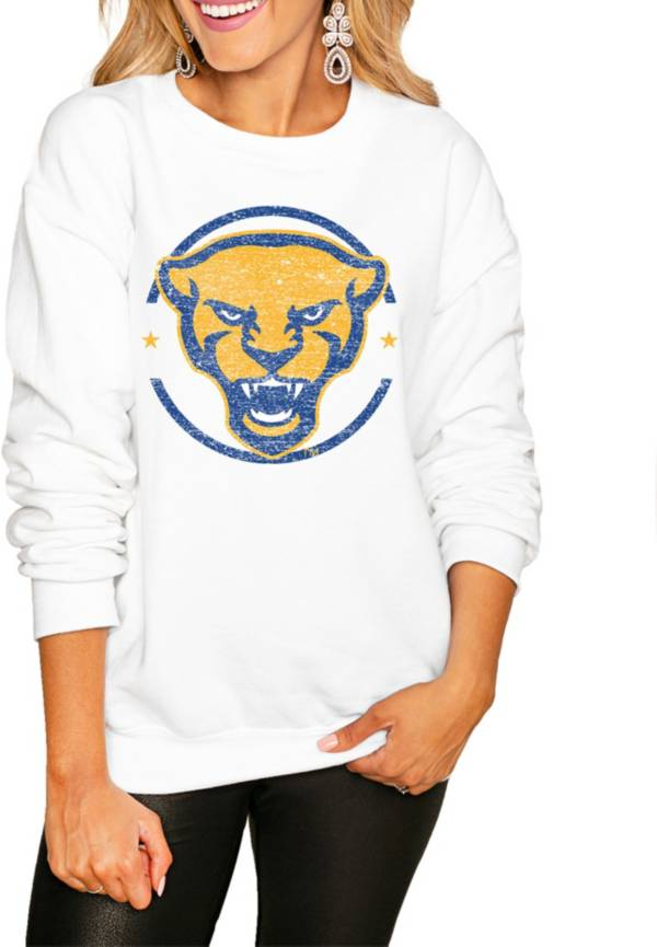 Gameday Couture Women's Pitt Panthers White Perfect Cozy Crew Pullover Sweatshirt product image