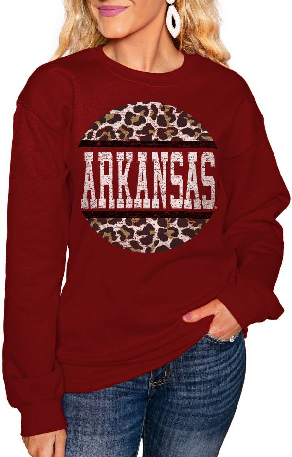 Gameday Couture Women's Arkansas Razorbacks Cardinal Perfect Cozy Crew Pullover Sweatshirt product image