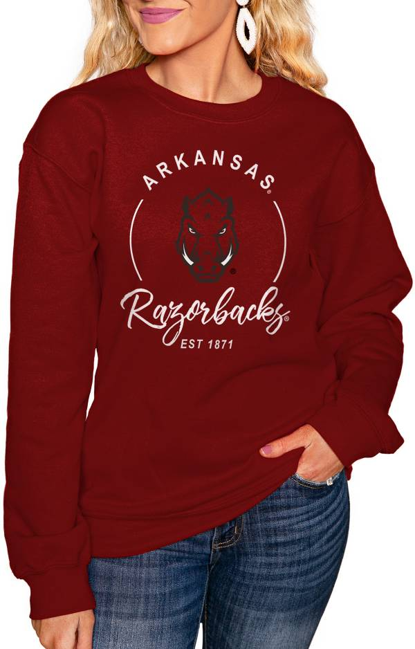 Gameday Couture Women's Arkansas Razorbacks Cardinal 'For the Home Team' Perfect Cozy Crew Pullover Sweatshirt product image