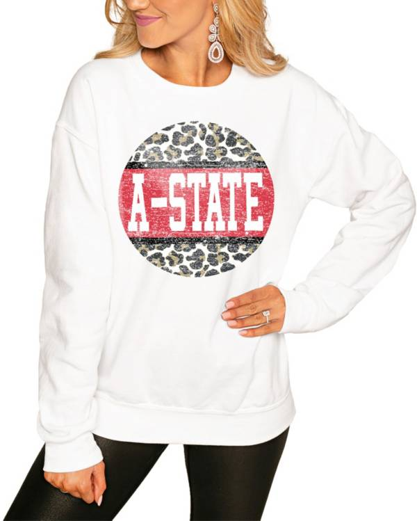 Gameday Couture Women's Arkansas State Red Wolves White Perfect Cozy Crew Pullover Sweatshirt product image