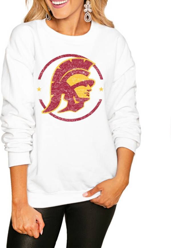 Gameday Couture Women's USC Trojans White Perfect Cozy Crew Pullover Sweatshirt product image