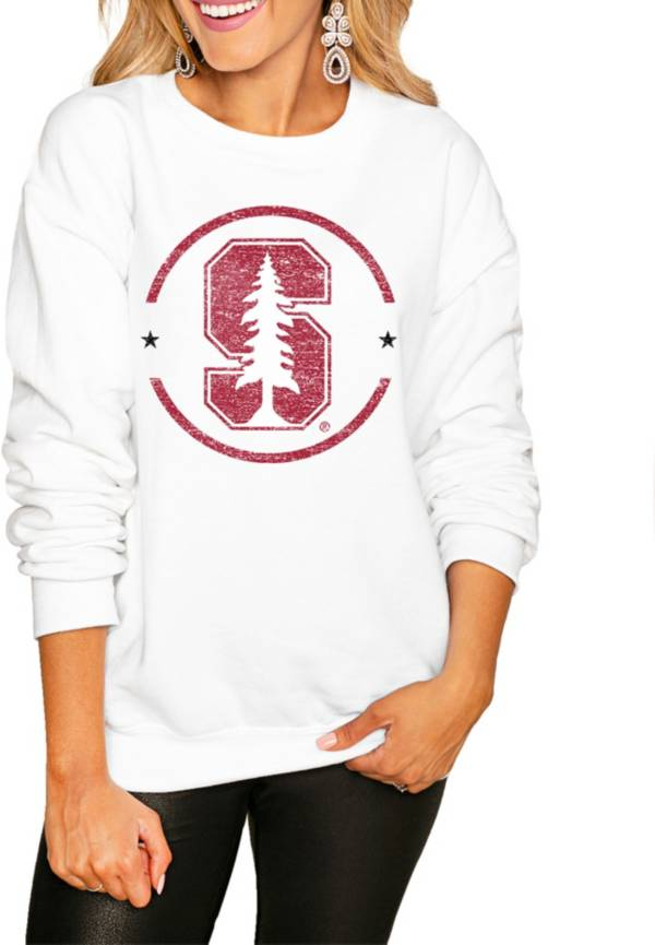 Gameday Couture Women's Stanford Cardinal White Perfect Cozy Crew Pullover Sweatshirt product image