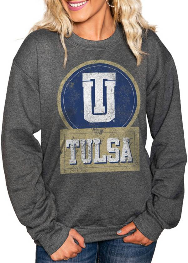 Gameday Couture Women's Tulsa Golden Hurricane Charcoal 'Good Vibes' Perfect Cozy Crew Pullover Sweatshirt product image