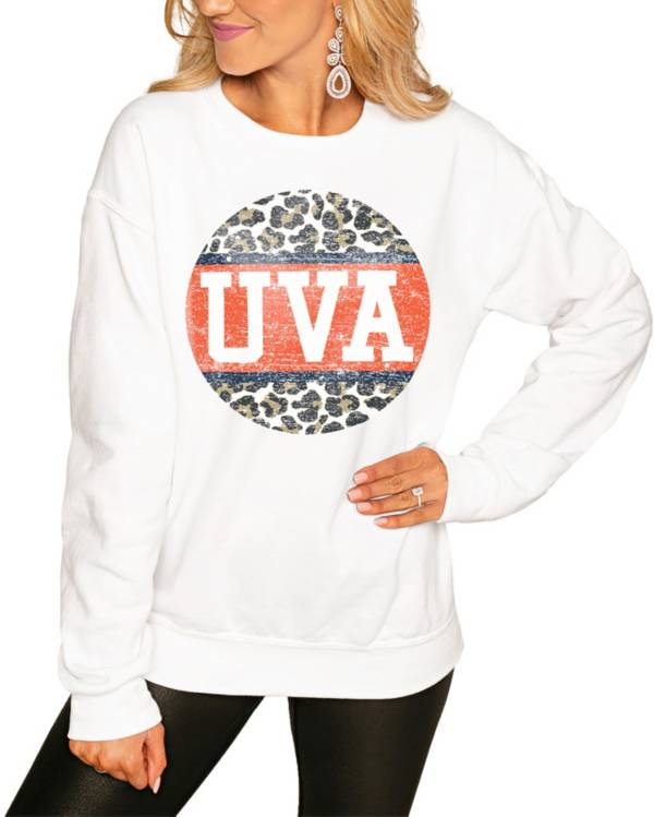 Gameday Couture Women's Virginia Cavaliers White Perfect Cozy Crew Pullover Sweatshirt product image