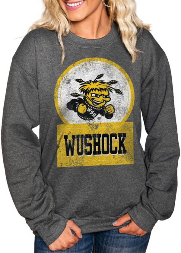 Gameday Couture Women's Wichita State Shockers Charcoal 'Good Vibes' Perfect Cozy Crew Pullover Sweatshirt product image