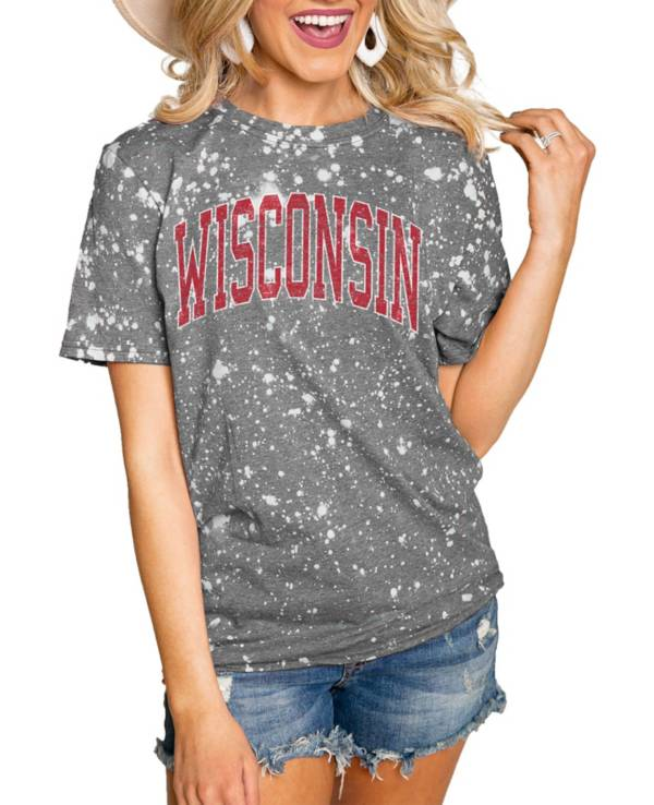 Gameday Couture Wisconsin Badgers Grey Bleached T-Shirt product image