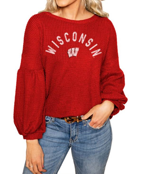 Gameday Couture Wisconsin Badgers Red Bubble Long Sleeve Shirt product image