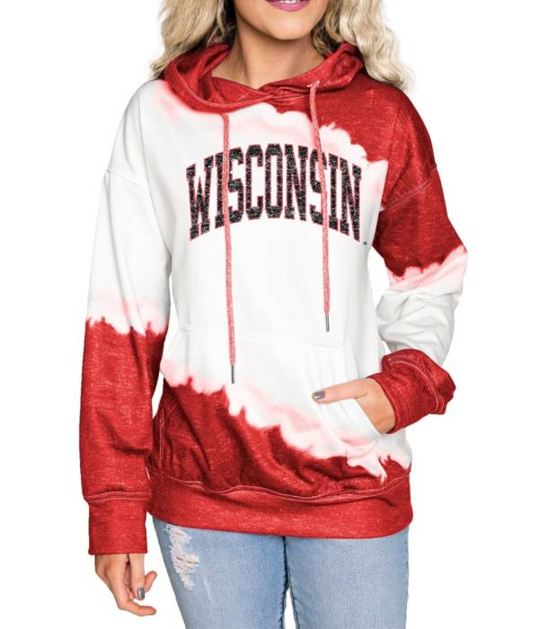 Gameday Couture Wisconsin Badgers Red Dip Dye Pullover Hoodie product image