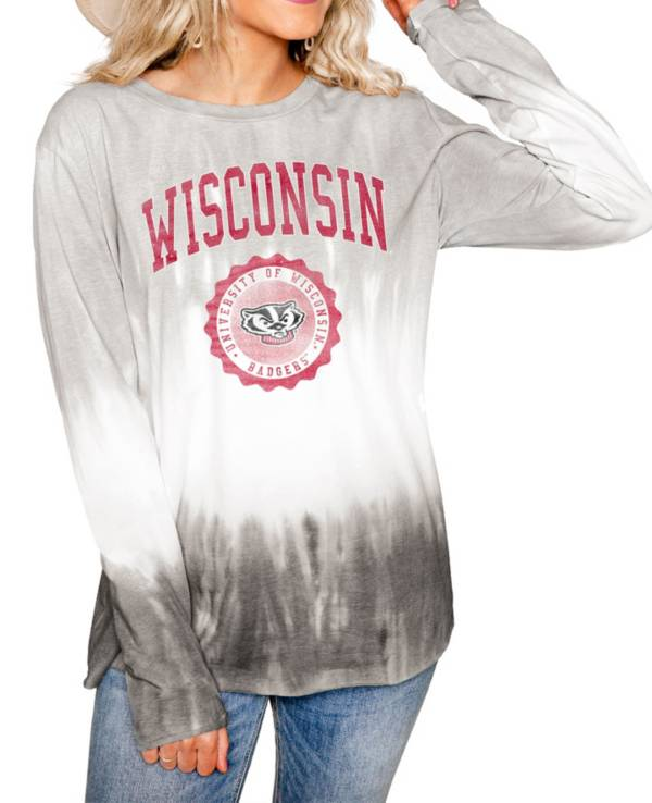 Gameday Couture Wisconsin Badgers White Dip Dye Long Sleeve T-Shirt product image