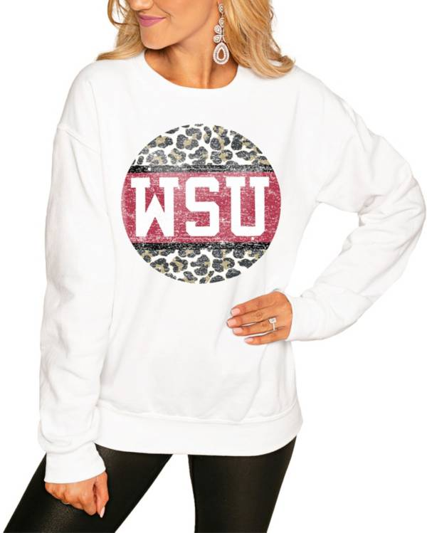 Gameday Couture Women's Washington State Cougars White Perfect Cozy Crew Pullover Sweatshirt product image