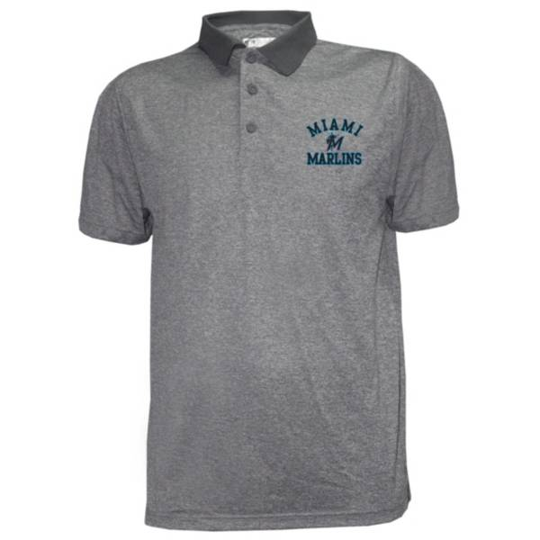 Stitches Men's Miami Marlins Poly Polo product image