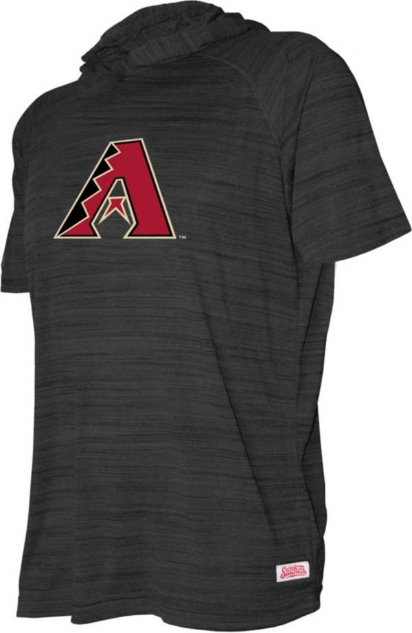 Stitches Youth Arizona Diamondbacks Black Short Sleeve Pullover Hoodie product image